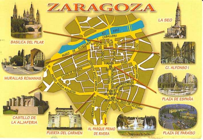 SpainZaragozaMap