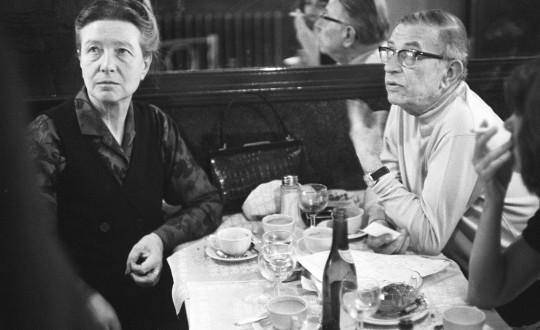 Sartre ve sevdiceği, Cafe de Flore'da